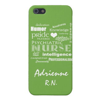 Psychiatric Nurse Pride+Name/Lime Green iPhone 5 Cases