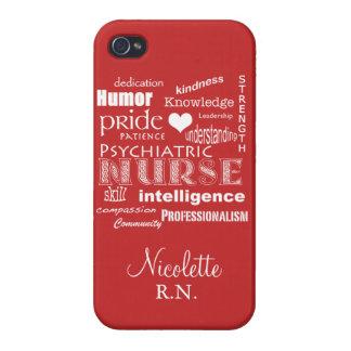 Psychiatric Nurse Pride-Personalize/Tomato Red iPhone 4/4S Case