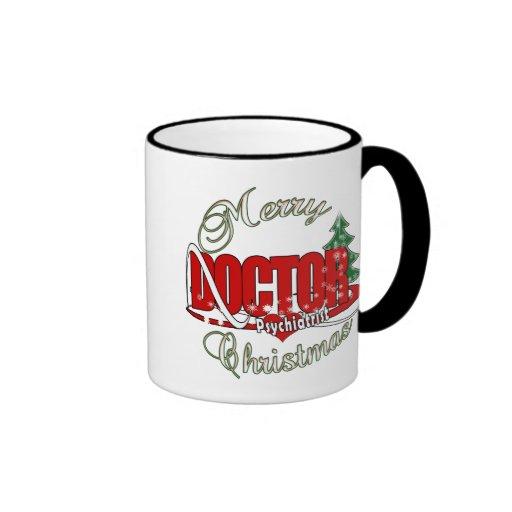 PSYCHIATRIST DOCTOR MERRY CHRISTMAS COFFEE MUGS