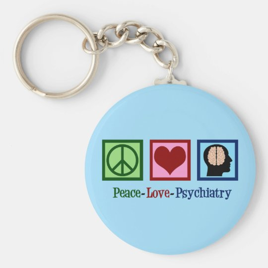 Psychiatrist Peace Love Psychiatry Key Ring