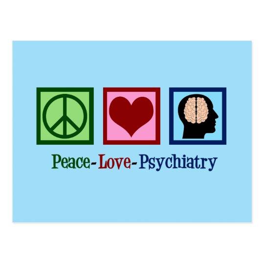 Psychiatrist Peace Love Psychiatry Postcard