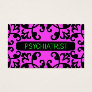 Psychiatrist Pink Business Card