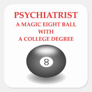 psychiatrist square sticker