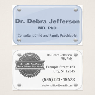 Psychiatrist - Therapist - glass name tag effect