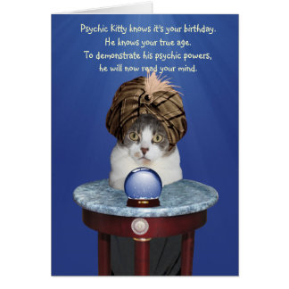 Psychic Mikie Funny Birthday Card
