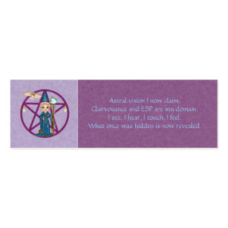 Psychic Powers Spell Card Pack Of Skinny Business Cards