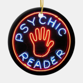 Psychic Reader Neon Sign Ceramic Ornament