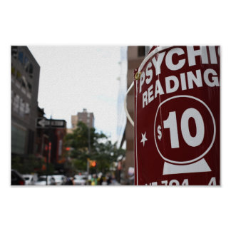 Psychic Readings New York City Street Photography Poster