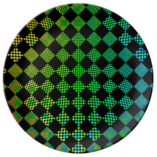 Psycho Checkers by Kenneth Yoncich Plate