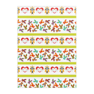 Psycho Easter Pattern colorful Acrylic Print