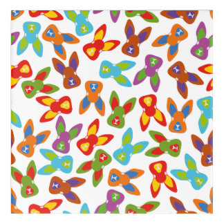 Psycho Easter Pattern colorful Acrylic Wall Art