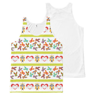 Psycho Easter Pattern colorful All-Over Print Tank Top