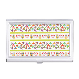 Psycho Easter Pattern colorful Business Card Holders