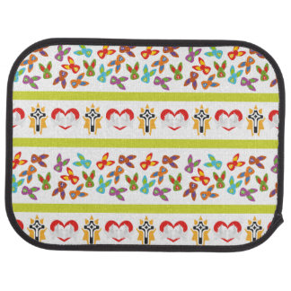 Psycho Easter Pattern colorful Car Mat