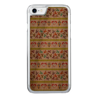 Psycho Easter Pattern colorful Carved iPhone 8/7 Case