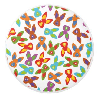 Psycho Easter Pattern colorful Ceramic Knob