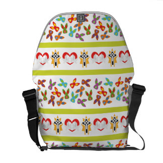 Psycho Easter Pattern colorful Commuter Bags