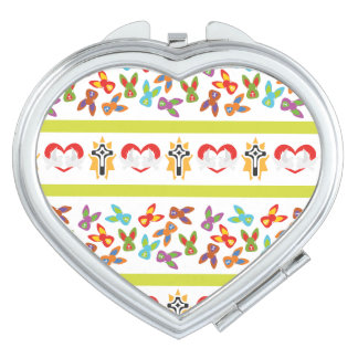 Psycho Easter Pattern colorful Compact Mirrors