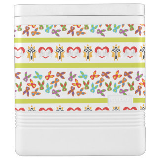 Psycho Easter Pattern colorful Cooler