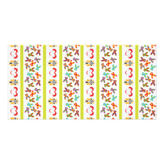 Psycho Easter Pattern colorful Customized Photo Card