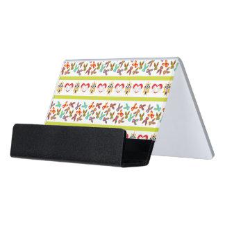 Psycho Easter Pattern colorful Desk Business Card Holder