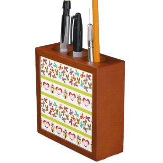 Psycho Easter Pattern colorful Desk Organiser