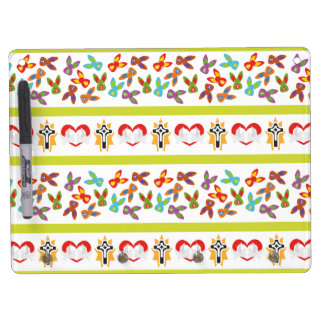 Psycho Easter Pattern colorful Dry Erase Board With Key Ring Holder