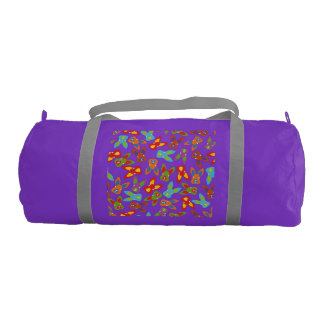 Psycho Easter Pattern colorful Gym Bag