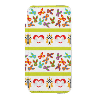 Psycho Easter Pattern colorful Incipio Watson™ iPhone 5 Wallet Case