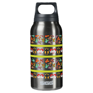 Psycho Easter Pattern colorful Insulated Water Bottle