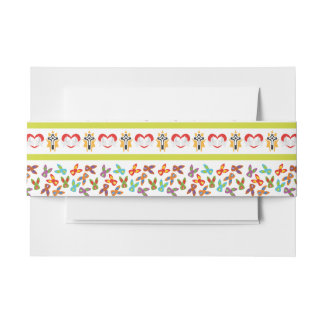 Psycho Easter Pattern colorful Invitation Belly Band