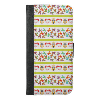 Psycho Easter Pattern colorful iPhone 6/6s Plus Wallet Case