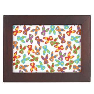 Psycho Easter Pattern colorful Keepsake Box