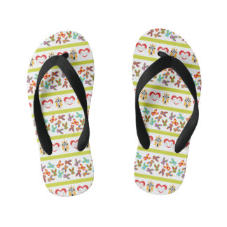 Psycho Easter Pattern colorful Kid's Thongs