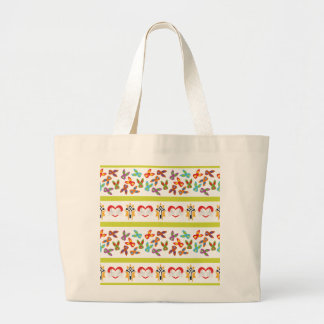 Psycho Easter Pattern colorful Large Tote Bag