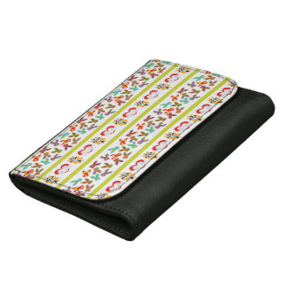 Psycho Easter Pattern colorful Leather Wallet