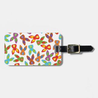 Psycho Easter Pattern colorful Luggage Tag