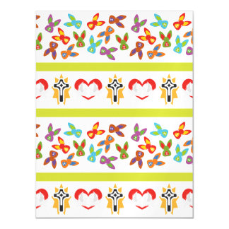 Psycho Easter Pattern colorful Magnetic Invitations