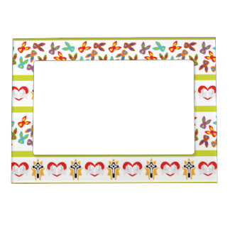 Psycho Easter Pattern colorful Magnetic Picture Frame