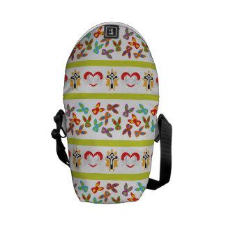 Psycho Easter Pattern colorful Messenger Bag