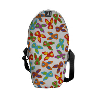 Psycho Easter Pattern colorful Messenger Bags