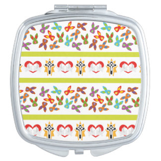 Psycho Easter Pattern colorful Mirror For Makeup