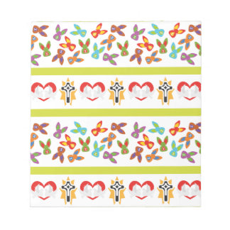 Psycho Easter Pattern colorful Notepad