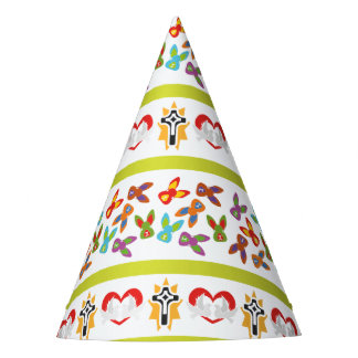 Psycho Easter Pattern colorful Party Hat