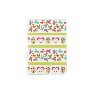 Psycho Easter Pattern colorful Passport Holder