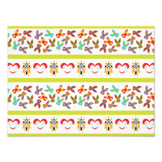 Psycho Easter Pattern colorful Photo Art