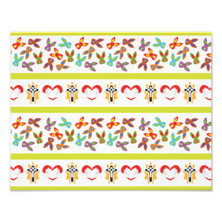 Psycho Easter Pattern colorful Photographic Print