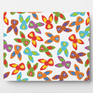 Psycho Easter Pattern colorful Plaque