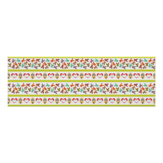 Psycho Easter Pattern colorful Poster