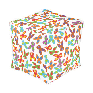 Psycho Easter Pattern colorful Pouf